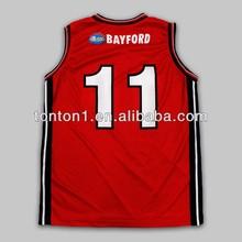 Reversible sublimated mesh fabric basketball jersey uniform design