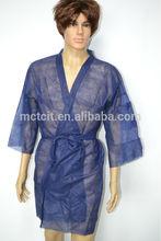 Disposable non woven sauna cloth/kimonos/beauty salon