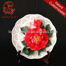 Arts and crafts ceramics porcelain flower