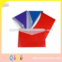 A4 plastic pvc snap closure document bags