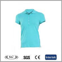 hot selling women blue 2012 latest fashion 100% cotton polo t-shirt