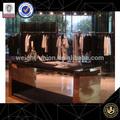 personalizado de metal de tela de la tienda de visualización de diseño de interiores de la tienda accesorios