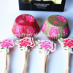 kitty paper cupcake kit/cupcake decorating kit for birthday