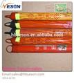 Hebei yeson pvc revestido de madeira cabo de vassoura/mop vara