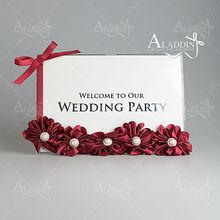 Hot sale 2014 new model photo frame for wedding invitation display flower photo frame