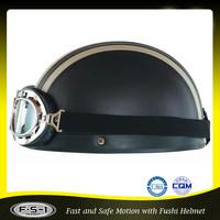 Black vintage ABS half face scooter helmet 903