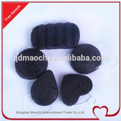 bamboo charcoal konjac sponge,natural fiber sponge
