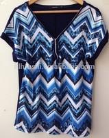 New Design Print Ladies Tshirt Wholesale High Quality Cheap Price