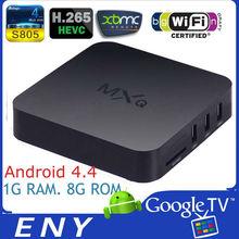 MXQ android 4.4 Amlogic S805, 8G ROM, quad core smart tv box xbmc