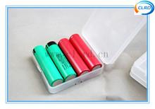 low price 18650 battery plastic case storage boxes for 4pcs 18650 batteries waterproof mix colors