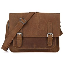 Drop Shipping Cheap Unisex Leather Shoulder Bag For Laptop Computer #7089B