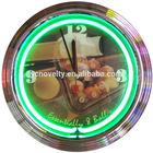 15 inch Tower Shape Essentially Eight Ball Single Tube Neon Wall Clock