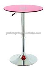 Modern Chromed Metal Cocktail Bar Table Adjustable Height Acrylic Table ZT-005