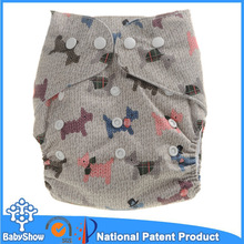 Babyshow best quality wholesale one size baby cloth nappy cute cloth diaper patterns