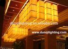 chinese modern rectangular crystal chandelier