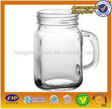 2015 square glass jar for jam/ wholesale square glass jar