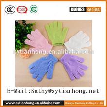 Bath&shower exfoliating glove,nylon bath massage glove