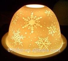 Porcelain dome shape tealight candle warmer