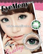 Cheap diameter 22.8mm super big eyes green Korea cosmetic contact lenses 7 colors 2 tone