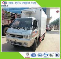 ice cream fish transportation 1T-2T Mini Dongfeng reefer box truck