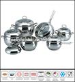 12 piezas de acero inoxidable utensilios de cocina apple sc715 conjunto