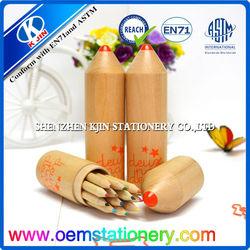 eco friendly 12 pcs 8.8*0.72cm custom wooden colour pencil box