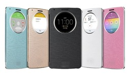 Hot Selling NFC Flip Leather Case Quick Circle case for LG G3 Case Wireless Chargeing
