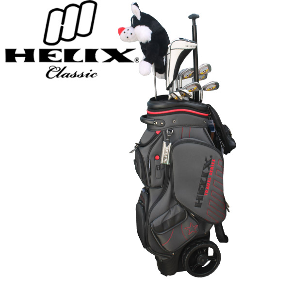 2015 helix travel series golf bag with bigger wheels cart