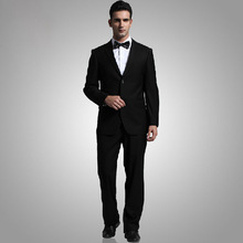 One button viscose&polyester mens pinstripe Dress suits fashion party men's suits