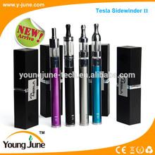 wholesale luxury electronic cigarette Tesla sidewinder II & 2000mah ego battery & ego vaporizer pen cloutank m4 kit