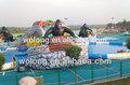 Gigante inflável water slide com piscina, piscina de água inflável slide