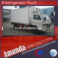 Jmc 4*2 12.56 cbm 2.95 toneladas de carne de transporte camiones refrigerados, congelador del refrigerador, refrigerados y aisla
