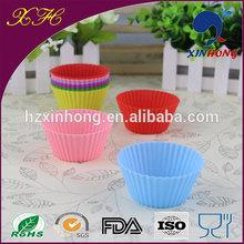Proveedor de china eco- ambiente exelente 12 un pack de silicona para hornear pasteles herramientas