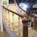 Clear acrílico rodada corrimão da escada, pilares de acrílico, balaustrada acrílico
