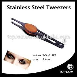 9.9cm tipped makeup stainless steel eyebow tweezers