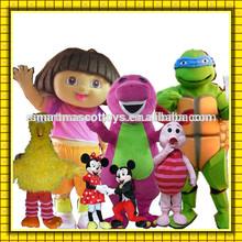 Buena visual alta calidad de la felpa de dibujos animados para adultos made in china traje de la mascota