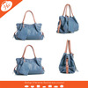 AL-120065 Blue Fashion handbags lady handbag pu leather soft bag