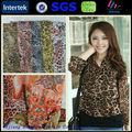 100% polyester leopard print silk chiffon fabric
