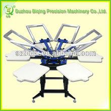 Manual 6 Color 6 Station T shirt Silk Screen Printing Press BQ66