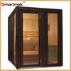 smartmak outdoor sauna room for 5-6 person outdoor corner sauna steam room with carbon beater