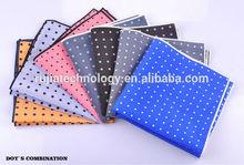 silk pocket square in dots fresh hankie
