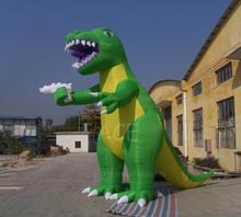 Inflatable Green&Yellow Dinosaur Cartoon for sale