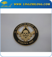 Ancient Masonic 3D skull widows son Free Mason Auto Emblem Car Emblem