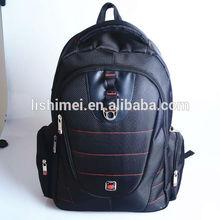Manufacture wholesale black laptop back pack bag