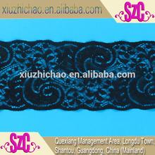 9.5cm black nylon spandex woven evening long dress lace