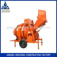 350L self-drop JZR350 mobile diesel hydraulic concrete mixer