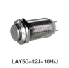 12mm LAY50-12J-10H/J High flush momentary reset metal push button,Nickel-plated brass/stainless steel push button switch