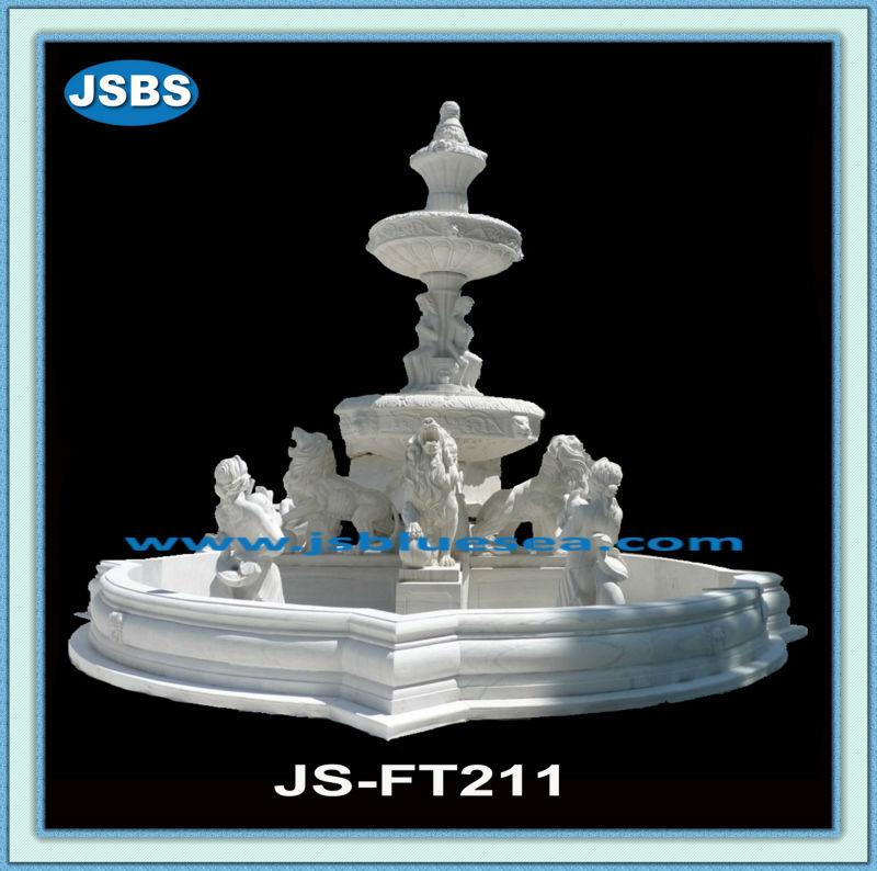 pas cher blanc grande fontaine d 39 eau ext rieure avec lion. Black Bedroom Furniture Sets. Home Design Ideas