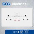 Bs1363 doppel doppel 13a Ampere elektrische wandleuchte schaltsteckdose mit/ohne indikator