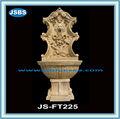 Chers jaune antique sculpture fontaine murale décorative à l'intérieur